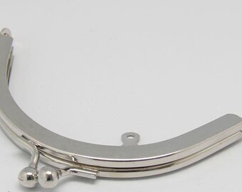 1 PC Retro Silver Metal Purse Frame / Handle Purse Frame 10.5cm (4.1 inch) E251