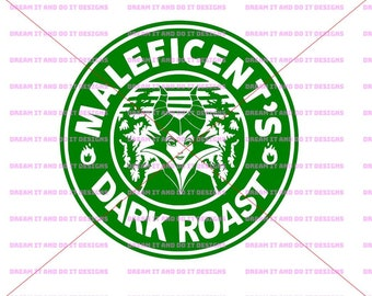 Disney SVG - Maleficent Dark Roast Coffee logo