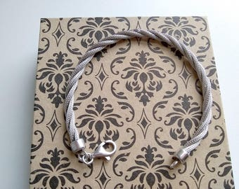 Sterling Silver Mesh Twisted Bracelet Free Domestic Shipping