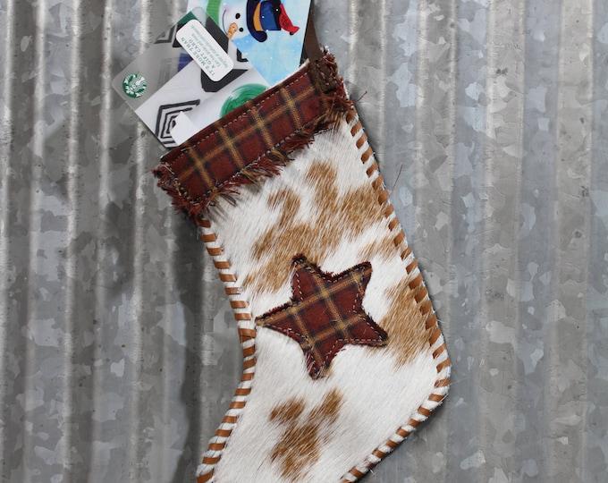 Cowboy Plaid Christmas Stocking