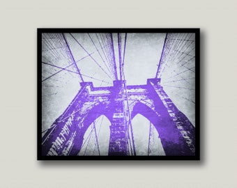 Brooklyn Bridge, Brooklyn Printable, Brooklyn Printable Art, Brooklyn Wall Art, NYC Wall Art, New York City, Printable Art, Instant Download