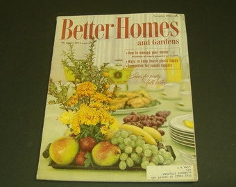 Vintage Better Homes and Gardens November 1958-Vintage Ads scrapbooking Collectible