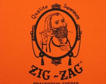Vintage-style Orange Zig Zags Shirt