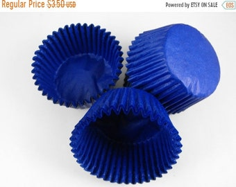 Mothers Day Sale 50 Pc Pretty Royal Blue Cupcake Liners 2X1.25 Inch Size Perfect for Parties