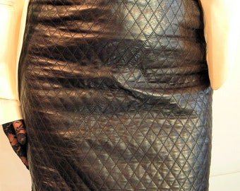 COUTURE Pencil Skirt. 100% SOFT LEATHER