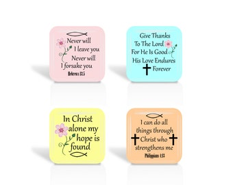 1 Inch Square, Digital Collage Sheet, Christian, Bible Verse, Jesus, For Glass Tiles, Pendants, Cabochons, Jewelry Making, Inspirational 1