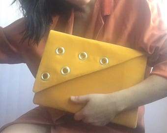 Velvet Grommet Asymmetrical Clutch Evening clutch bag clutch purse clutch bag Envelope purse handbag wedding bridesmaid evening