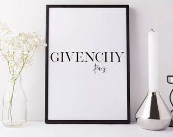 Givenchy Paris Fashion Digital Typography Print
