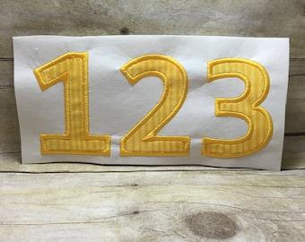 Bold Number Applique, Number Applique Design