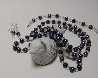 Tahitian Pearl and Opalite Bead 3 Piece set.