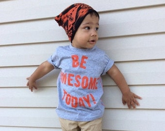 SALE Orange Tribal Ethnic Arrow Slouchy Beanie Hat for Baby Toddler Reversible Girl Boy NB 3m 6m 12m 18m 2T 3T 4T 5T