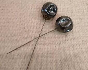 2 Vintage Hat Pins