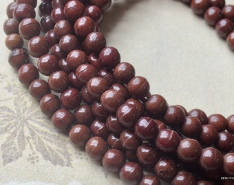 4 mm Brown Turquoise Gem Stone Beads (gz sdu - .mthc)
