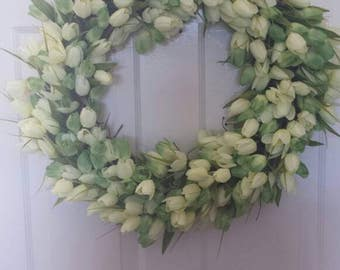 24' Tulip wreath / spring wreath / front door wreath / holiday wreath /  door wreath / summer wreath easter wreath