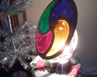 Retro Color Wheel...Rotating Light for Aluminum Christmas Tree ...Man in the Moon...Revolving...with original box