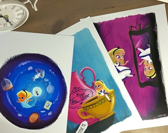All 3 Alice art prints
