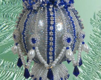 Beaded Christmas Ornament Pattern/Tutorial/Instructions - Ruffles - No VAT required - Pay with Paypal and receive a 5 dollar refund