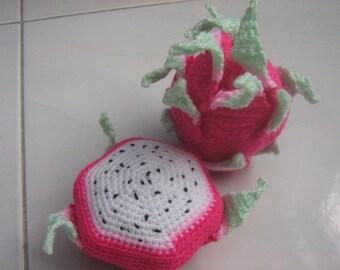 Fruit Crochet Pattern Dragonfruit  Crochet Pattern Food Pattern PDF Instant Download Dragonfruit