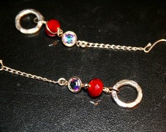 RIEL Crystal and Sterling Earrings