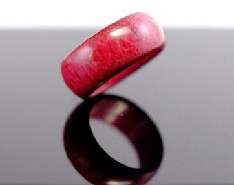 Purpleheart wooden ring