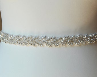 Stunning Crystal Bridal Sash,Wedding Dress Sash Belt, Rhinestone Bridal Bridesmaid Sash Belt, Wedding dress sash