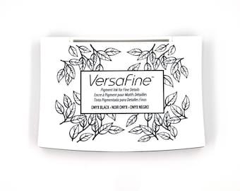 Black Ink Pad for Stamping Pigment Ink Pad VersaFine Ink Black Stamp Ink Pad Non Toxic Ink Pad Rubber Stamp Ink