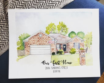 Custom House Illustration, Our First Home