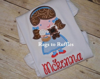 Wizard of Oz Dorothy Inspired Applique Tshirt