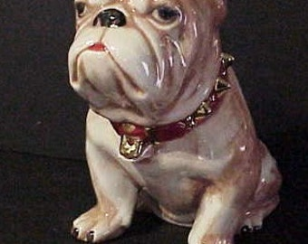 Bull Dog Cookie Jar 9 1/2 inches Tall
