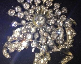 Vintage Gorgeous Sparkly Rhinestone Brooch
