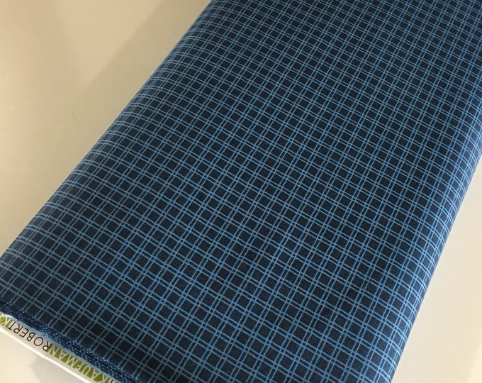 Cotton Fabric by the Yard, Quilting Fabric, Campsite Critters, Blue Plaid, Camping Outdoors, Explore, Gift for Baby, Quilt, Choose the cut