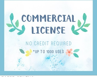 Commercial License Add-On - License to use ONE clipart set in items for sale