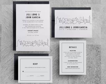 las vegas destination wedding invitations, las vegas party invitations, las vegas wedding announcement, Las Vegas Wedding Invitations