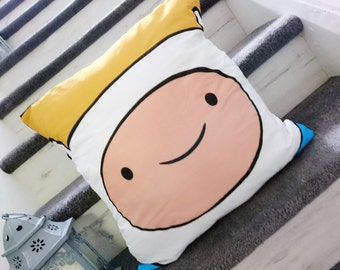 Finn the human, jake the dog, Marceline the vampire queen, adventure time, cotton character cushion cover, pillow case, cushion, geek gift