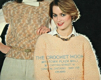 Crochet Patterns Sweater Vest Crochet Quickies Patons 1020 Women Vintage Paper Original NOT a PDF