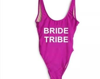 Bride Tribe Bathing suit, swim suit, one piece-