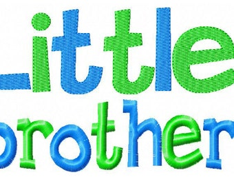 Little Brother 2 Embroidery Design INSTANT download