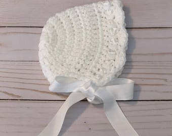 Newborn bonnet, newborn hat, newborn photo prop, newborn girl hat, newborn photography prop, baby bonnet, baby girl bonnet