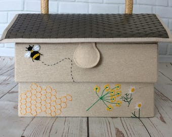 Bee hive sewing box/container/basket Groves