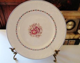 Wedgwood Corinthian Evenlode Dinner Plate, English Porcelain, English Country, Floral Plate Evenlode, 1950's Dinnerware