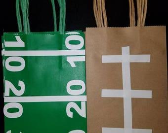 Football Goodie Bags Loot Bags Treat Bags Favor Bags Party Bags Sports, Team, Helmet, Football Field, NFL, CFL. 10 pack 1 design