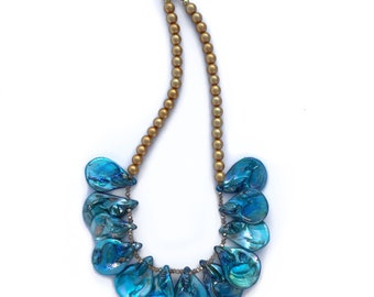 Blue Mother of Pearl Necklace