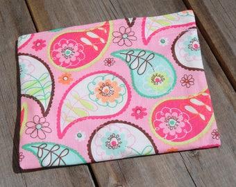 Reusable Snack Bag - Single Bag in Pink Paisley