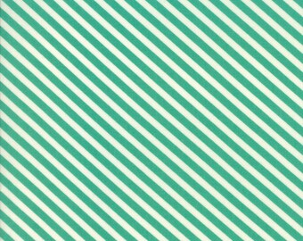 Handmade (55145 15) Teal Candy Stripe Bonnie & Camille