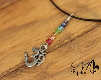 Om leather necklace