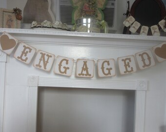 Engagement Banner Engaged Engagement Party Banner Photo Prop