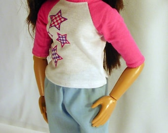 Doll Easy Pants Pattern for BFC Ink , A Girl for All Time, Disney Princess and me and other slim 16-18 inch dolls