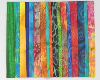 Batik Striped Blanket  - jewel tone blanket throw  - beautiful jewel tone batik stripe, colorful, decor, cozy