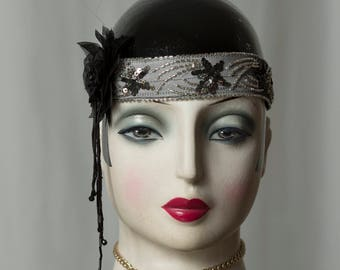 Headband in 20s/20s style, Gatsby Party, Great Gatsby, Flapper, Glamour