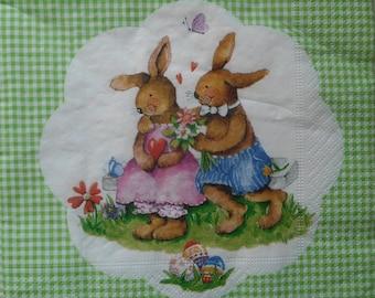 151 Easter Bunny napkin